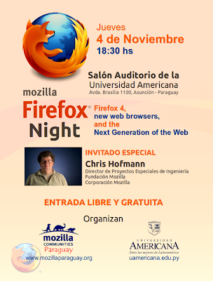 Imagen del evento Mozilla Firefox Night en Asunción – Paraguay