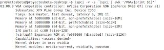 Imagen de ejemplo de como obtener información de nuestra tarjeta gráfica en Ubuntu