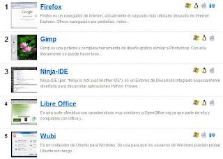 Imagen del mejor software libre 2010