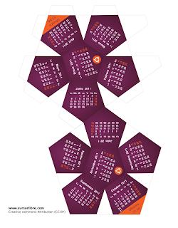 Imagen de un calendario ubuntero del 2011