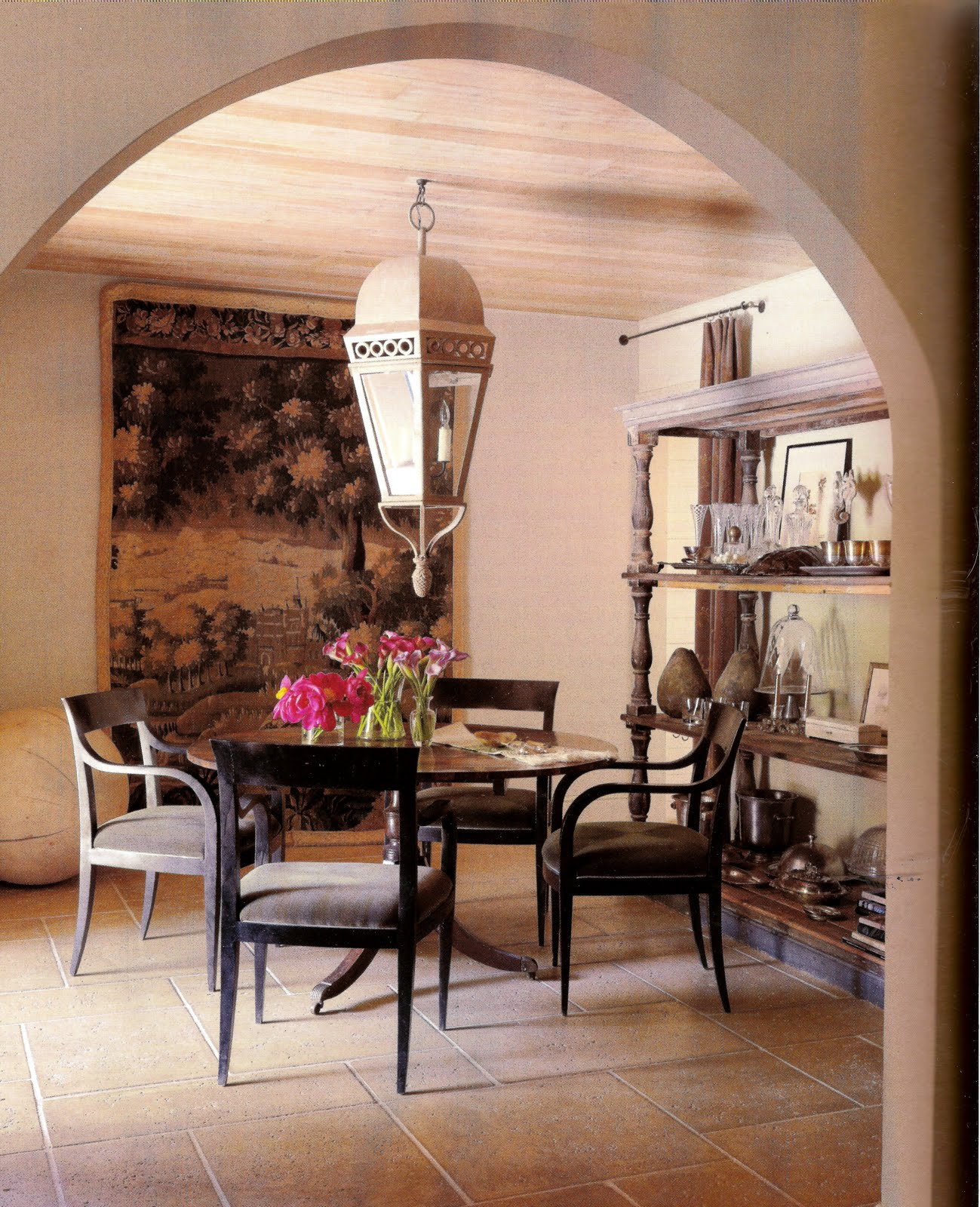 According to lia magazine monday small spaces Pretty dining rooms