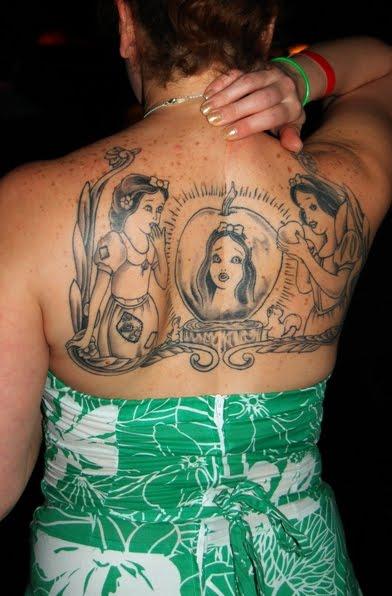 Snow White with Apple tattoo Artist Darwin Enriquez of Irezumi Tattoo