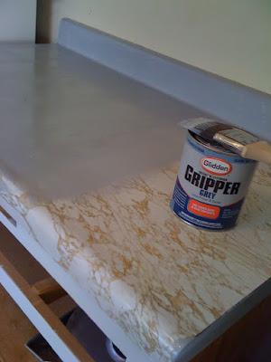 rustoleum countertop paint. every inch of counter top.