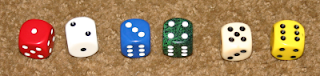 1d6 dice distribution