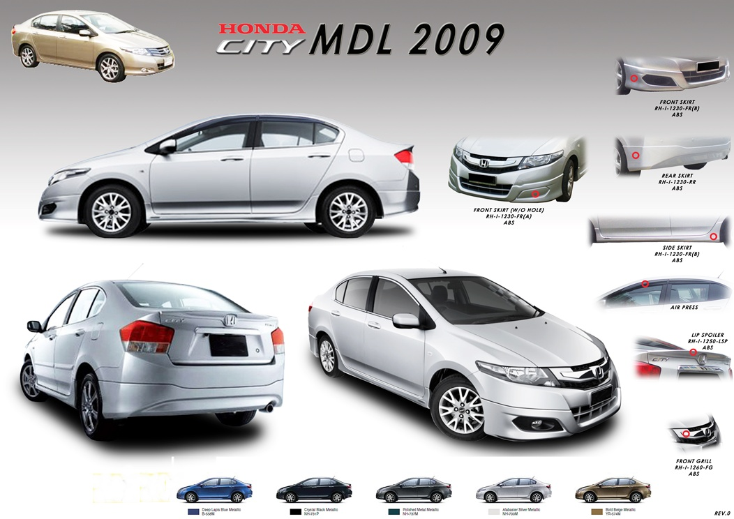 2017 Honda City Modulo Bodykit Car Accessories Parts