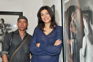 Sushmita Sen Launch Charcoal Exibition