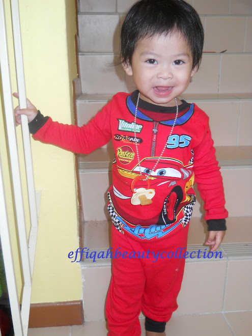si comel menggayakan pyjamas cars