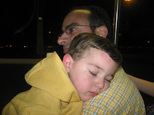 Sleeping on Daddy...