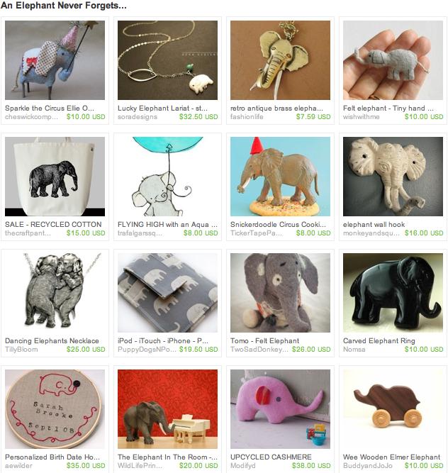 katie company, elephant, etsy, handmade