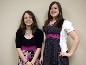Me and my friend Taylor dressed for church :)