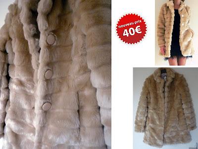 vide dressing manteau fausse fourrure