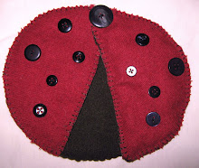 Ladybug needle book