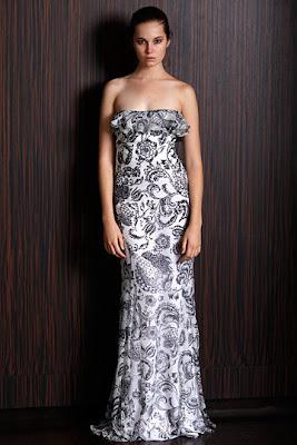 vestido de festa de casamento estampado