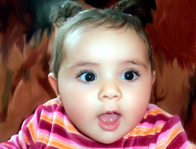 Nora niña coletas baby