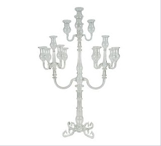Chandelier baroque verre