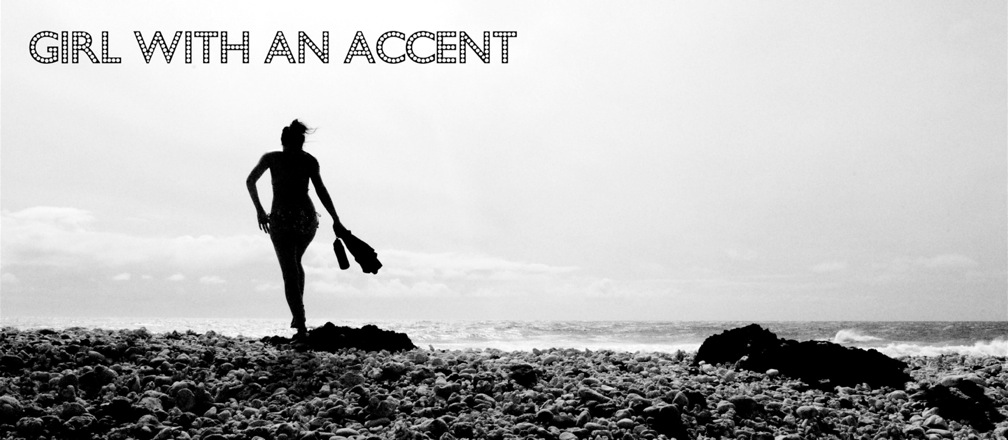 girl with an accent