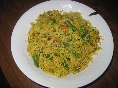 Vegetable Semiya Upma is with lots of vegetables
