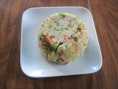 Vegetable Rava Upma with lots of vegetables