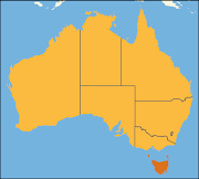 Tasmania is highlighted on the above map of Australia