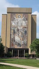 "Hesburgh Library aka ""TD Jesus"""