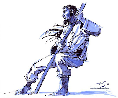 The Art of Elsa Garagarza: drawing workshop-martial arts themed