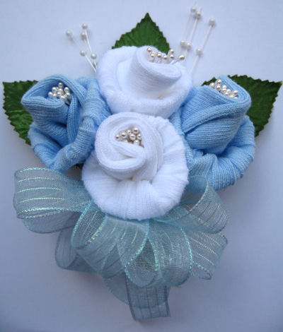 how to make a baby shower corsage