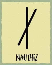 Diana Driver Write On: January's Rune - Nauthiz - Need, Necessity