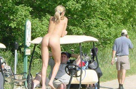 Nude babes on golf course #11