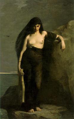 Safo, como la imaginó por Charles Mengin en 1877