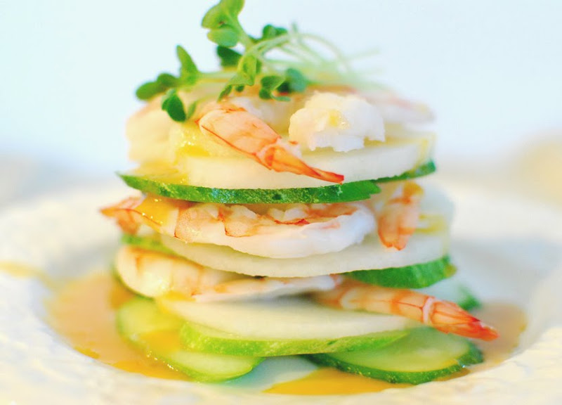 ... salad recipe it s a shrimp salad with cucumber and korean pear slices