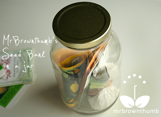 saving seeds in jars
