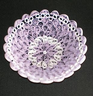 Квиллинг декоративная тарелочка