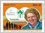 Um selo especial, em homenagem à d=Dra. Zilda.