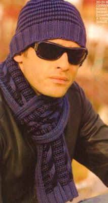 Вязание спицами шапок шарфов для мужчин