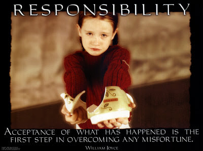  take responsibility
