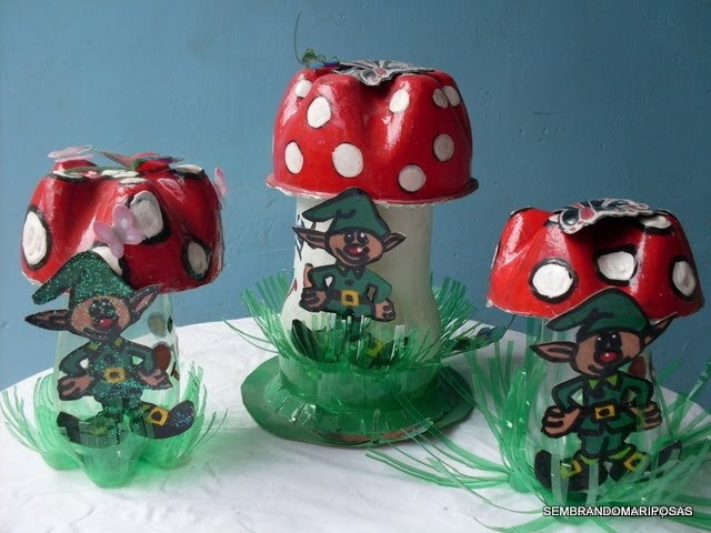 Sembrando mariposas como hacer un hongo con botellas de for Como elaborar un jardin