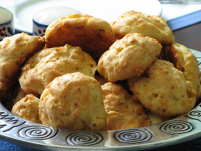 Gougeres With Arugula, Bacon, And Pickled Onions Recipes — Dishmaps