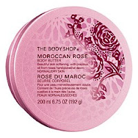 the smell brings me back to my childhood — the body shop's moroccan rose body butter