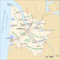 Gironde departement térképe