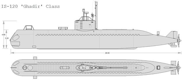 غواصات كوريا الشماليه North Korean submarine IS-120_Side