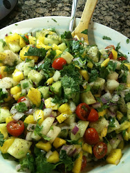 Mango Cucumber Pear Salsa/Salad