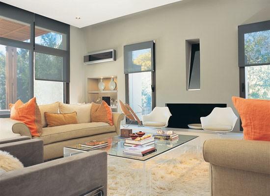 Casas bonitas salon acogedor for Adornos modernos para living