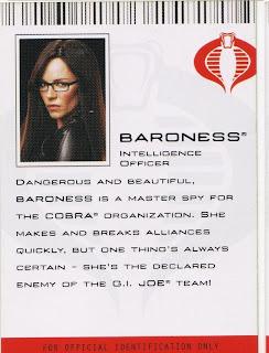 Baroness, Intelligence officer