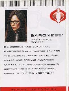 Baroness, Intelligence officer