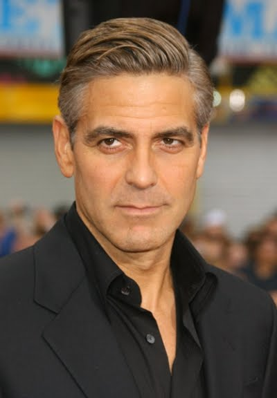 going gray hairstyles : George Clooney Hair