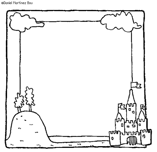 wide frame coloring pages christmas - photo#12