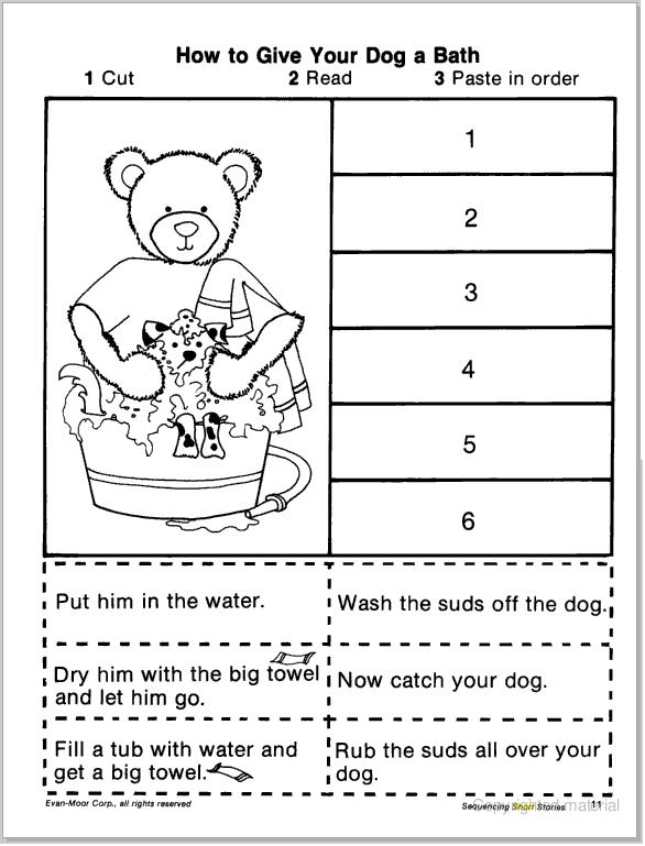 Cut And Paste Worksheets 3rd Grade : Short story sequencing cut paste learningenglish esl