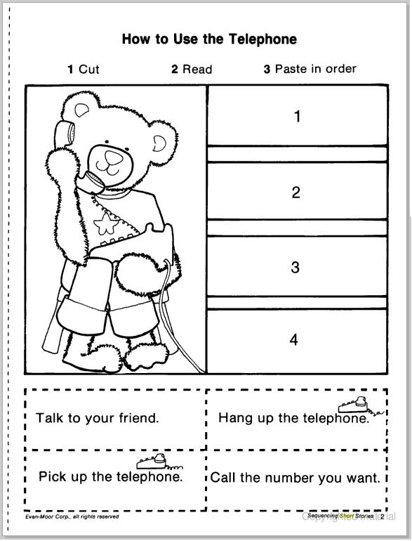 Number Names Worksheets sequencing worksheets for preschool – Story Sequencing Worksheets for Kindergarten