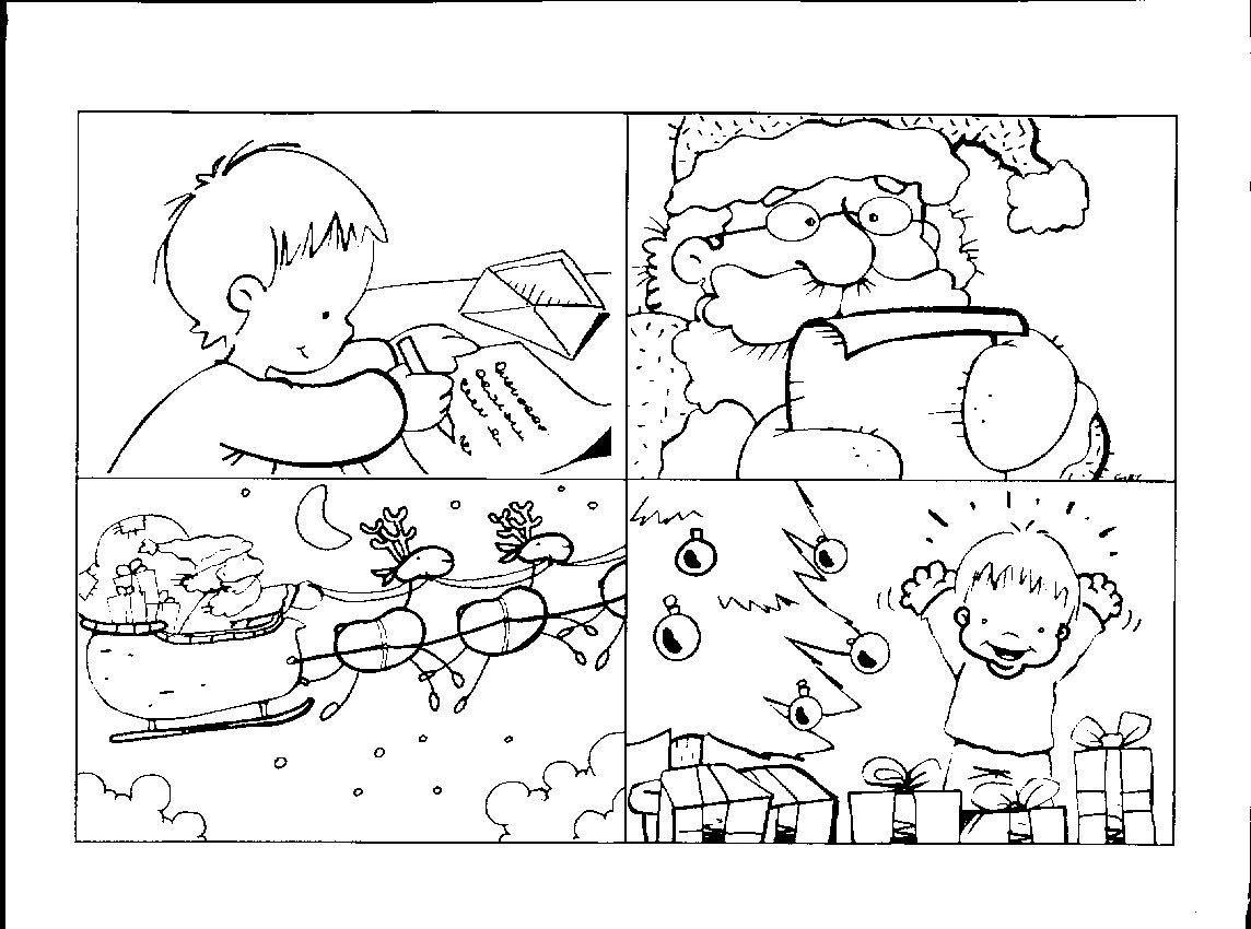 Santa 39 s letter sequencing cards learningenglish esl for Actividades para jardin de infantes para imprimir