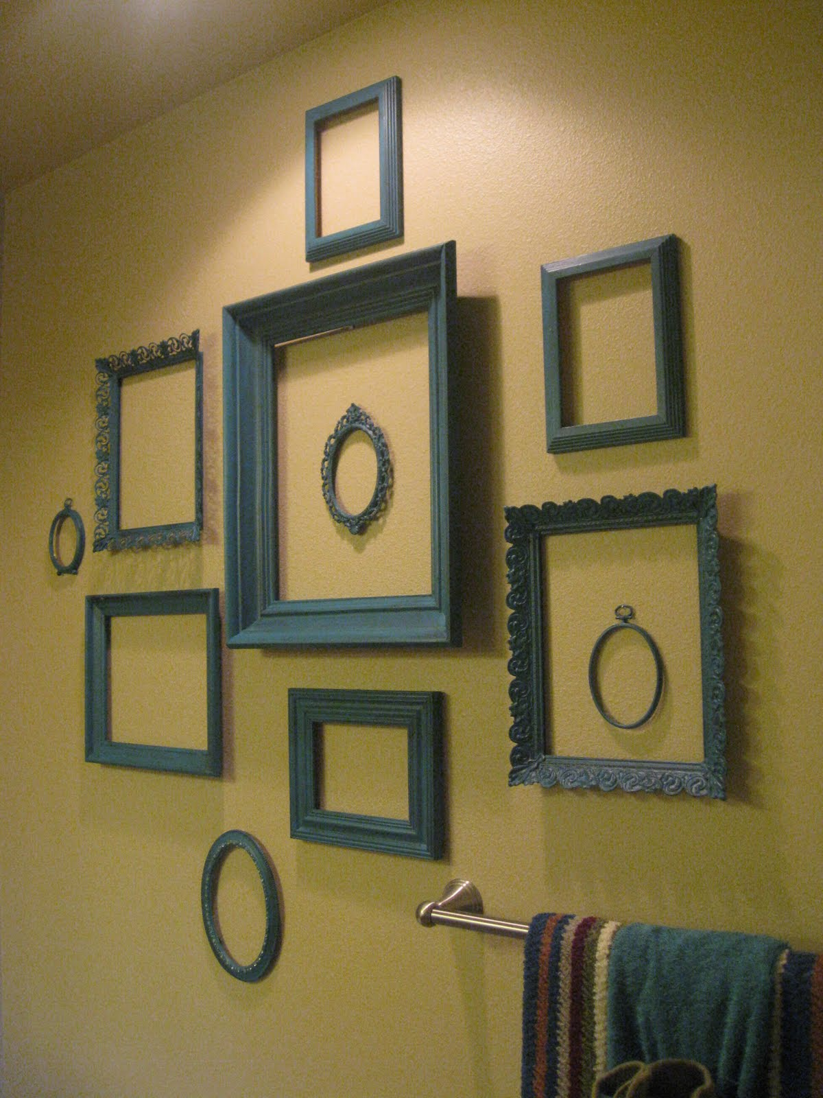 Vintage Dutch Girl: Wall of TEAL Frames...